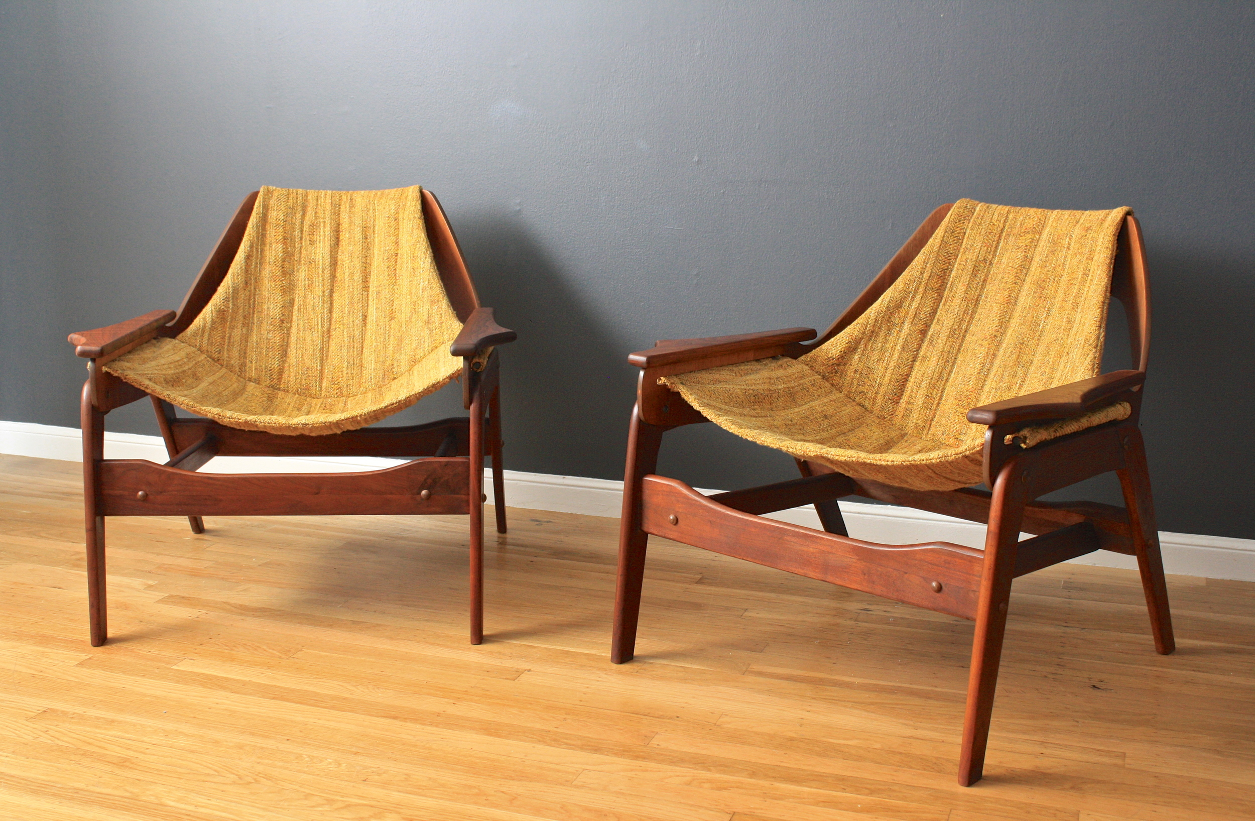 Pair of Mid-Century Modern Lounge Chairs by Jerry Johnson
