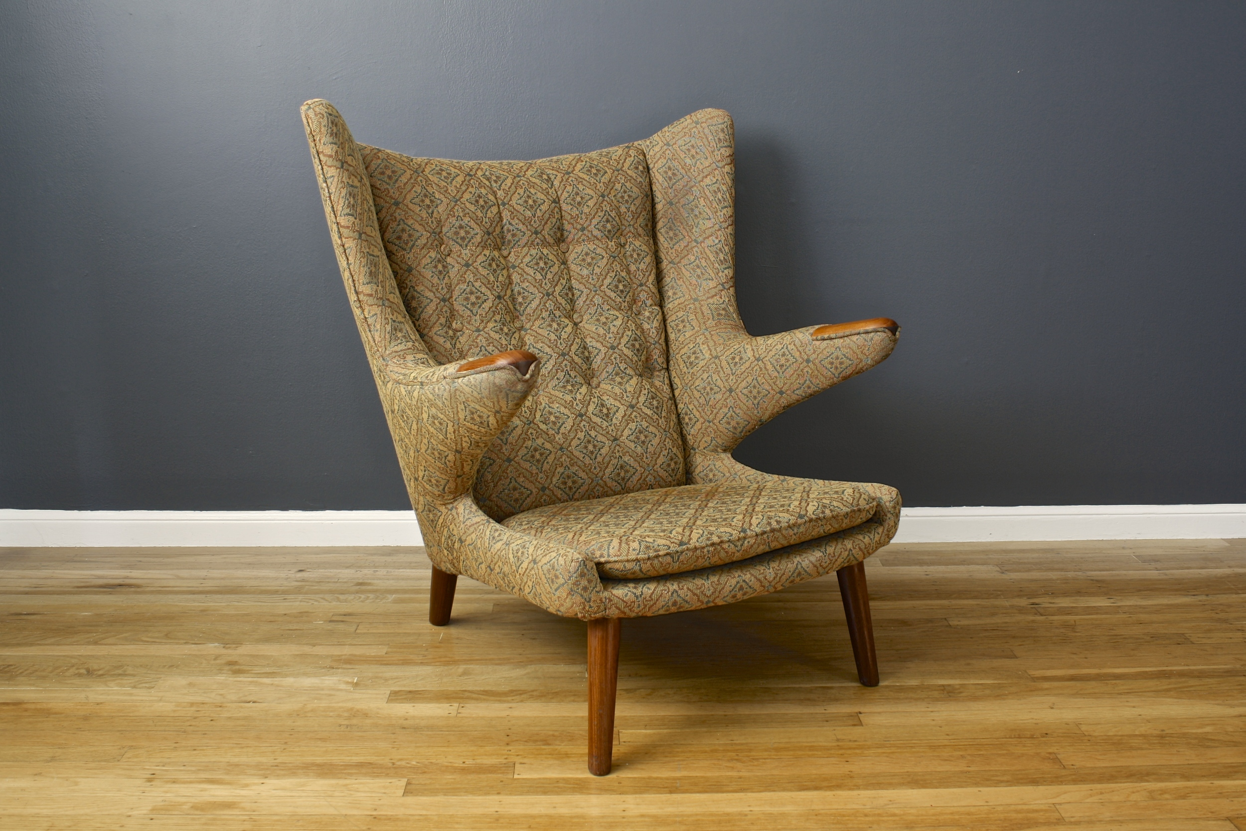 Vintage Papa Bear Chair by Hans Wegner