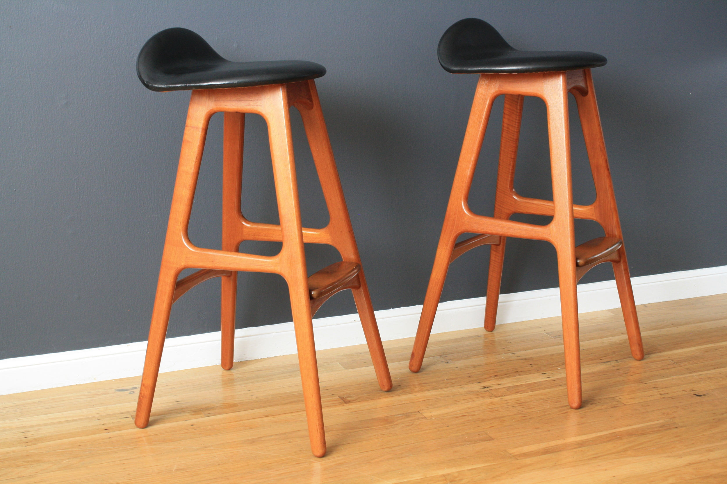 Pair of Danish Modern Bar Stools by Eric Buck