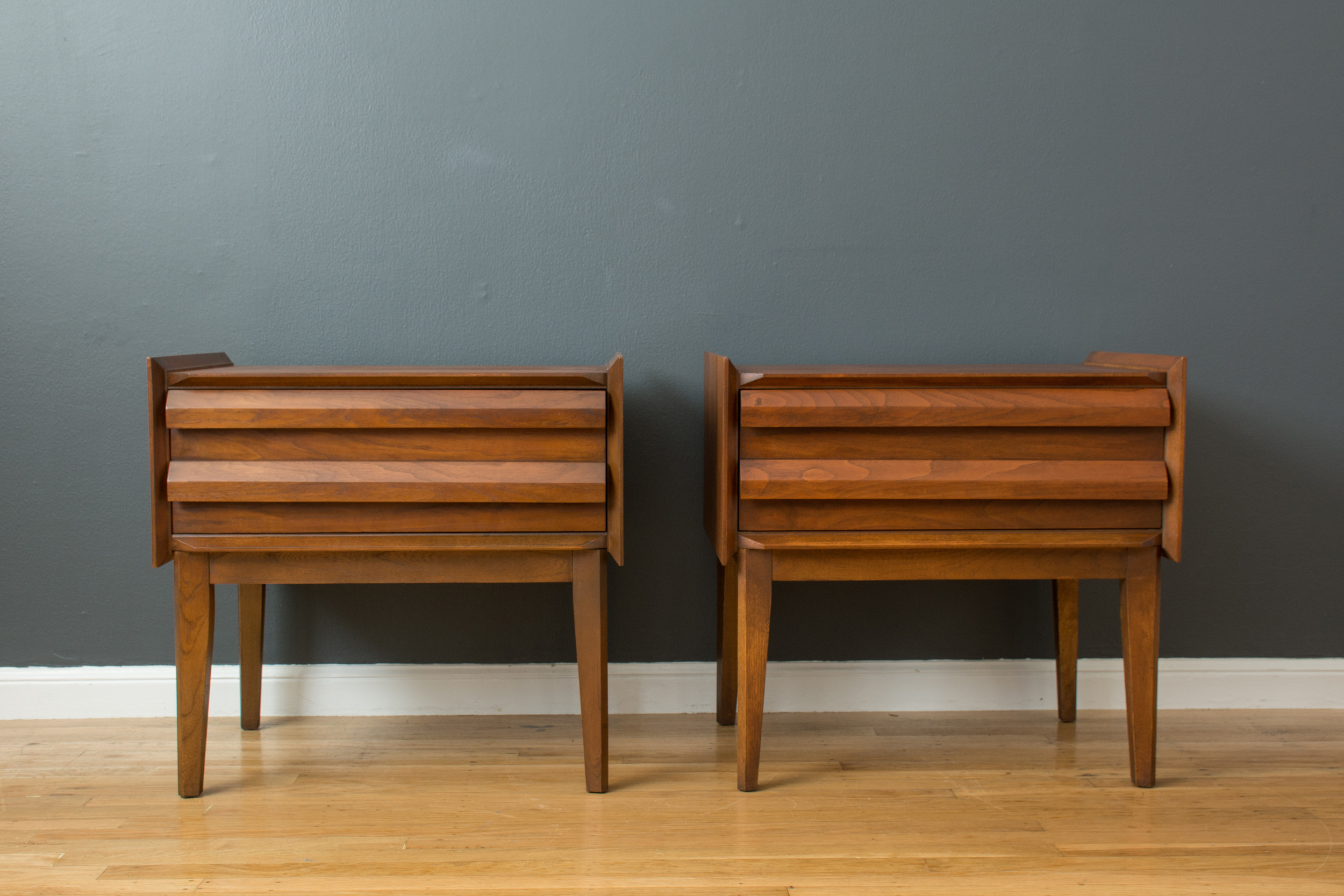 Pair of Mid-Century Modern Night Stands by Lane