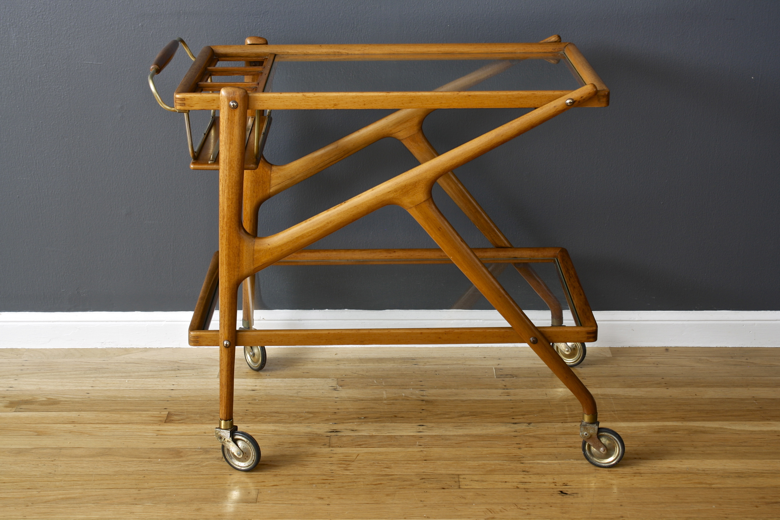 Vintage Mid-Century Italian Bar Cart by Salca