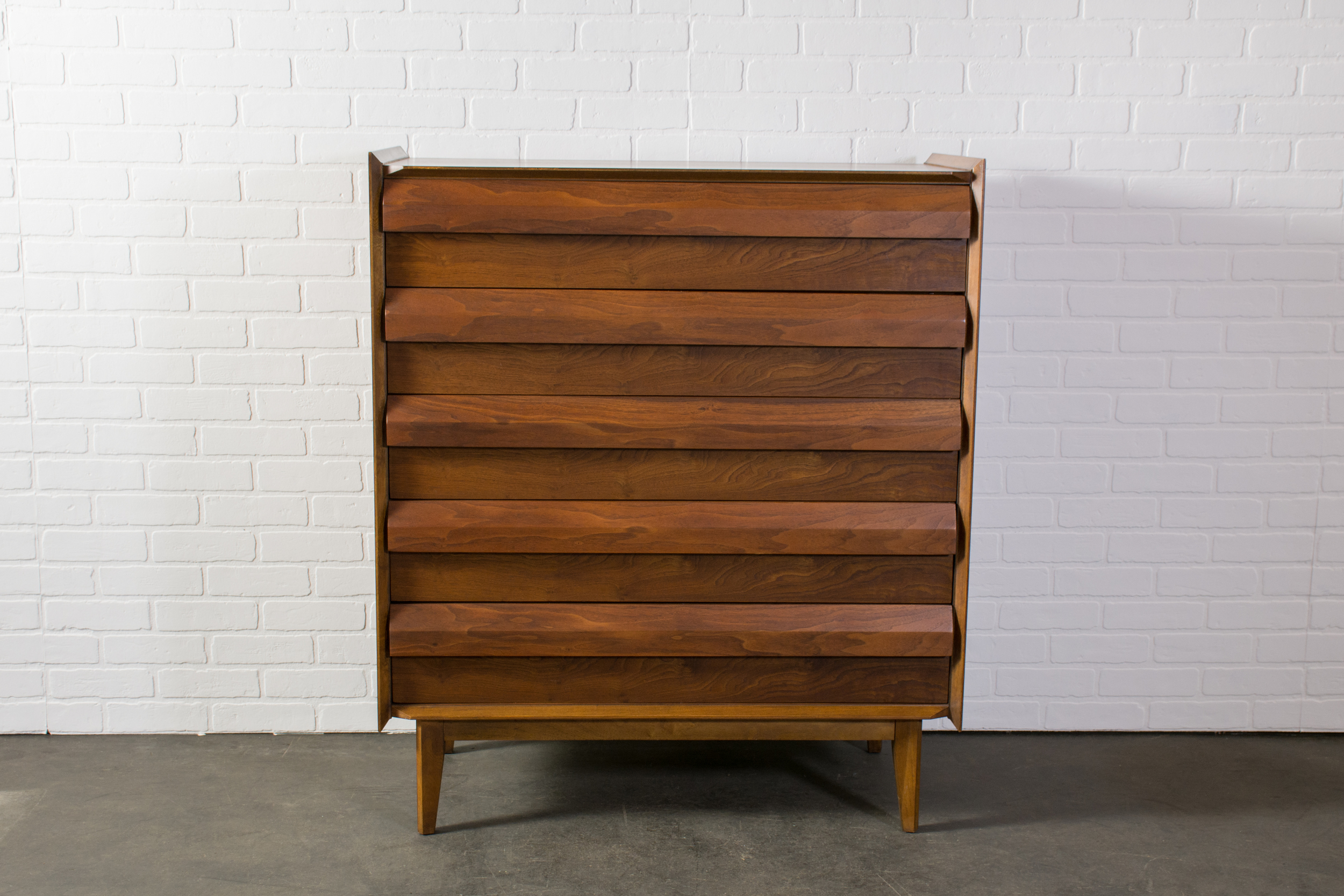 Tall Vintage Mid-Century Dresser by Lane