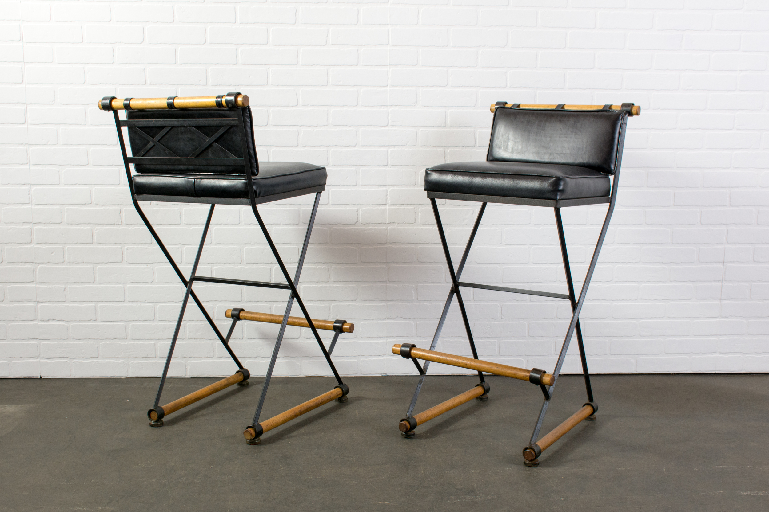 Pair of Vintage Mid-Century Bar Stools by Cleo Baldon