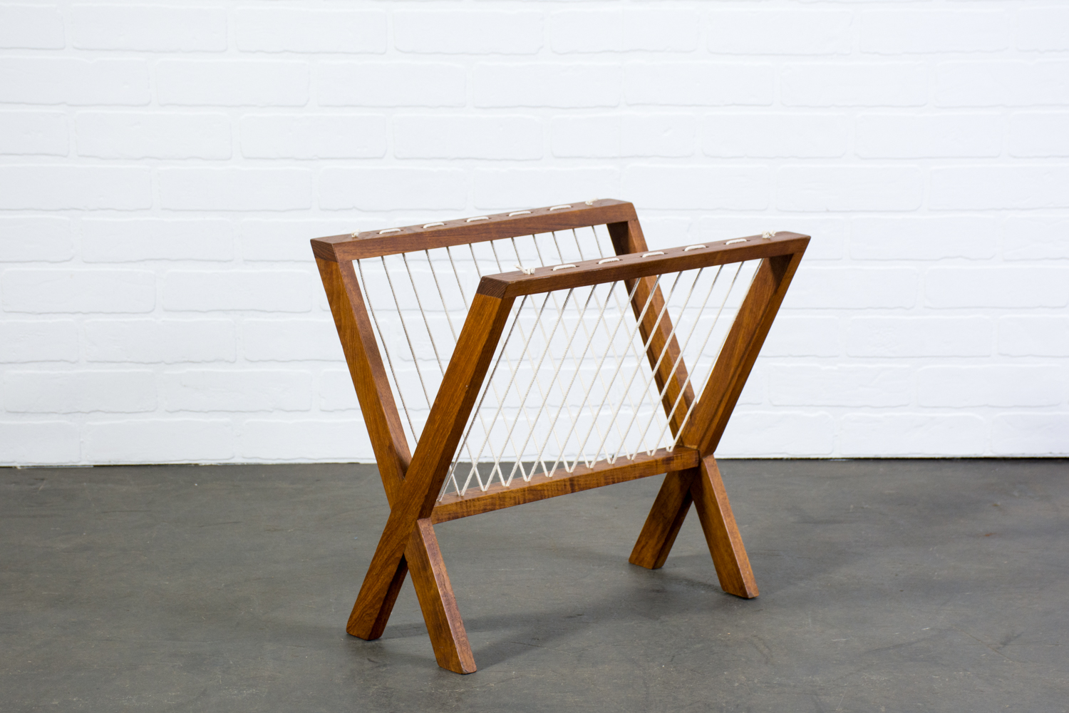 Copy of Vintage Mid-Century Teak Magazine Rack