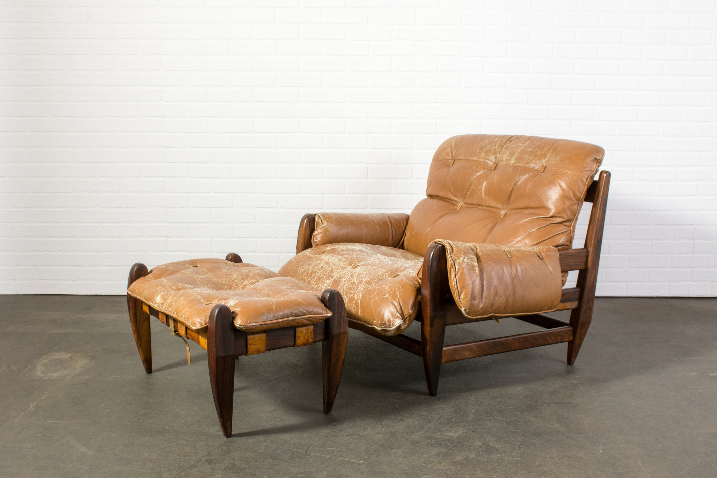 Rosewood Lounge Chair and Ottoman by Jean Gillon