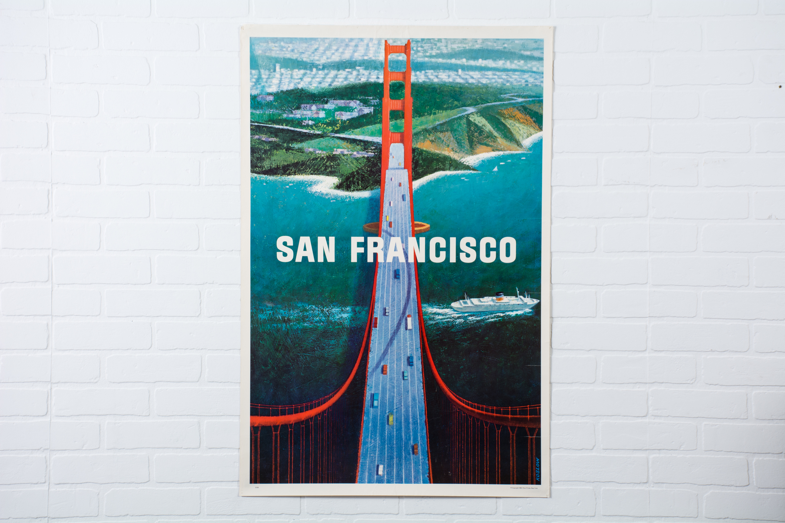 Rare Vintage San Francisco Poster by Howard Koslo, 1964