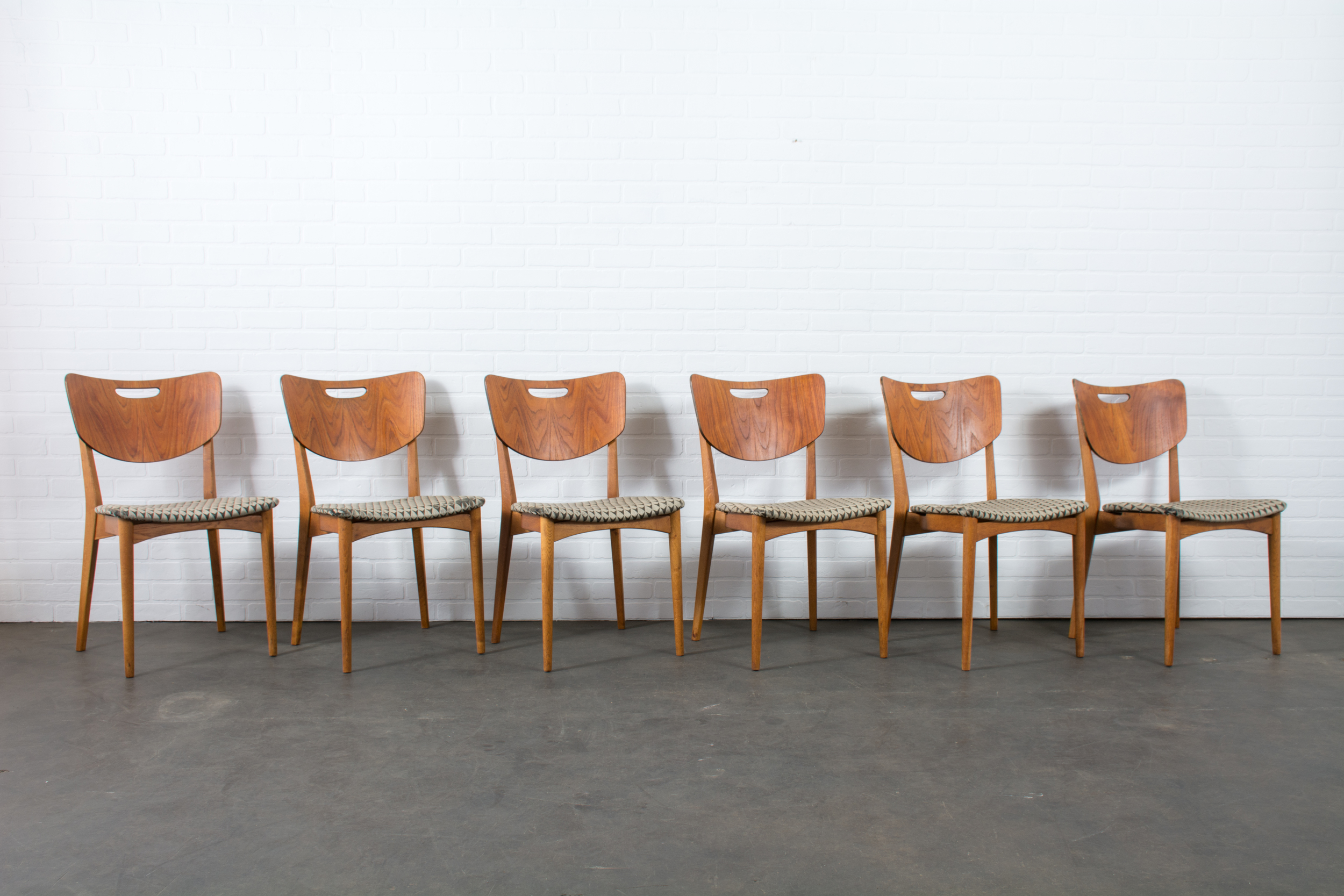 Set of Six Danish Modern Dining Chairs