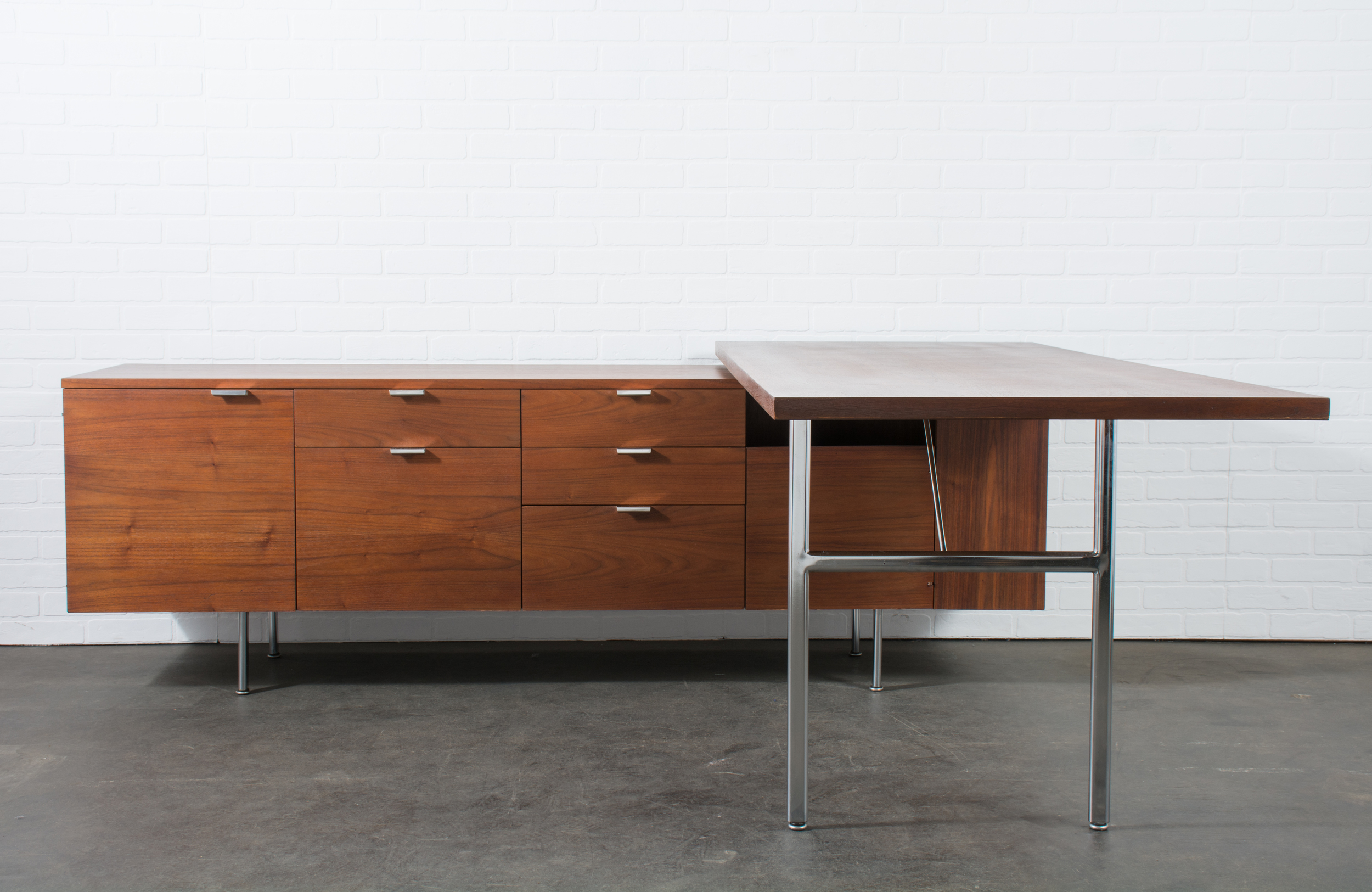 Executive Desk with Return by George Nelson for Herman Miller