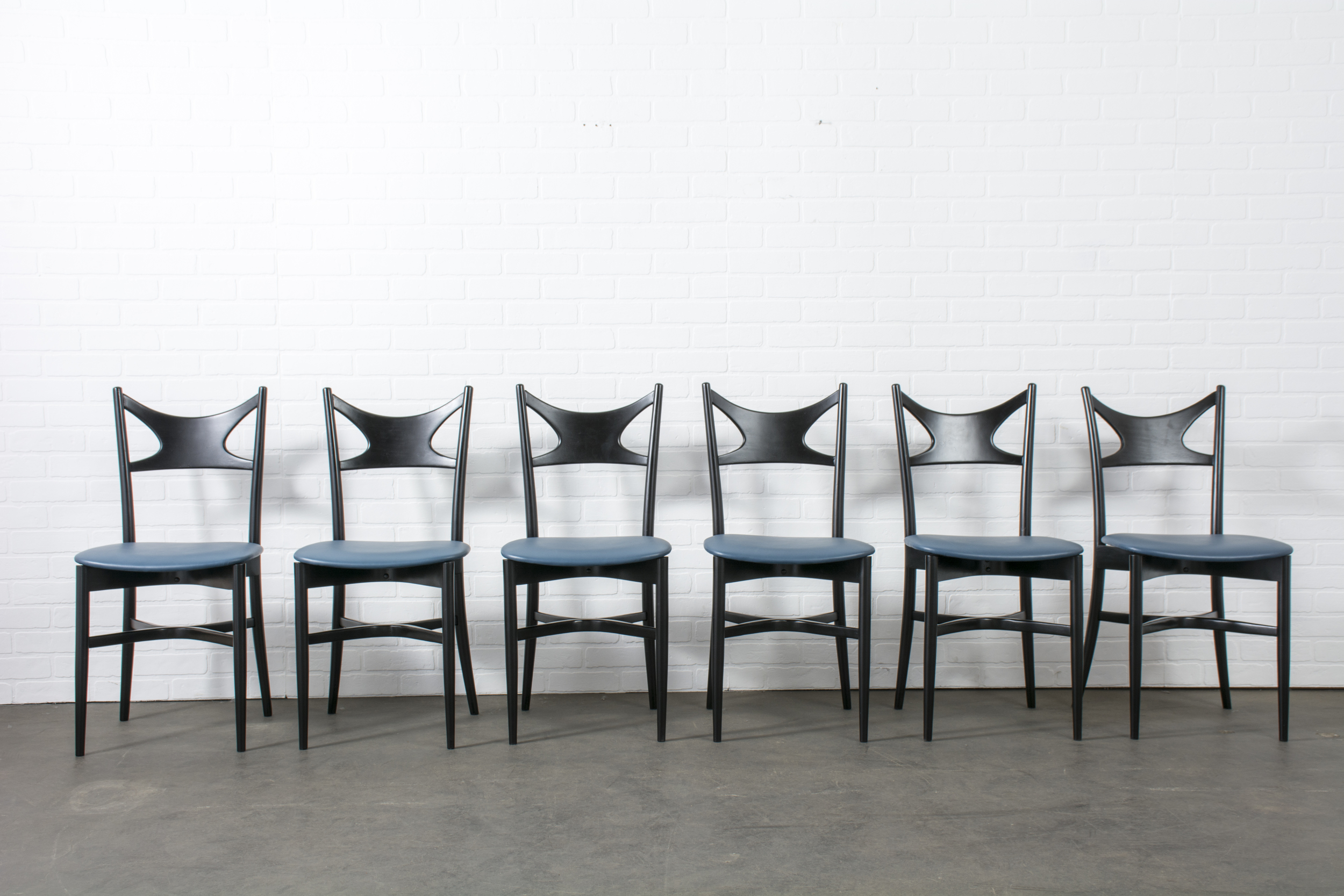Set of Six Vintage Mid-Century Italian Dining Chairs