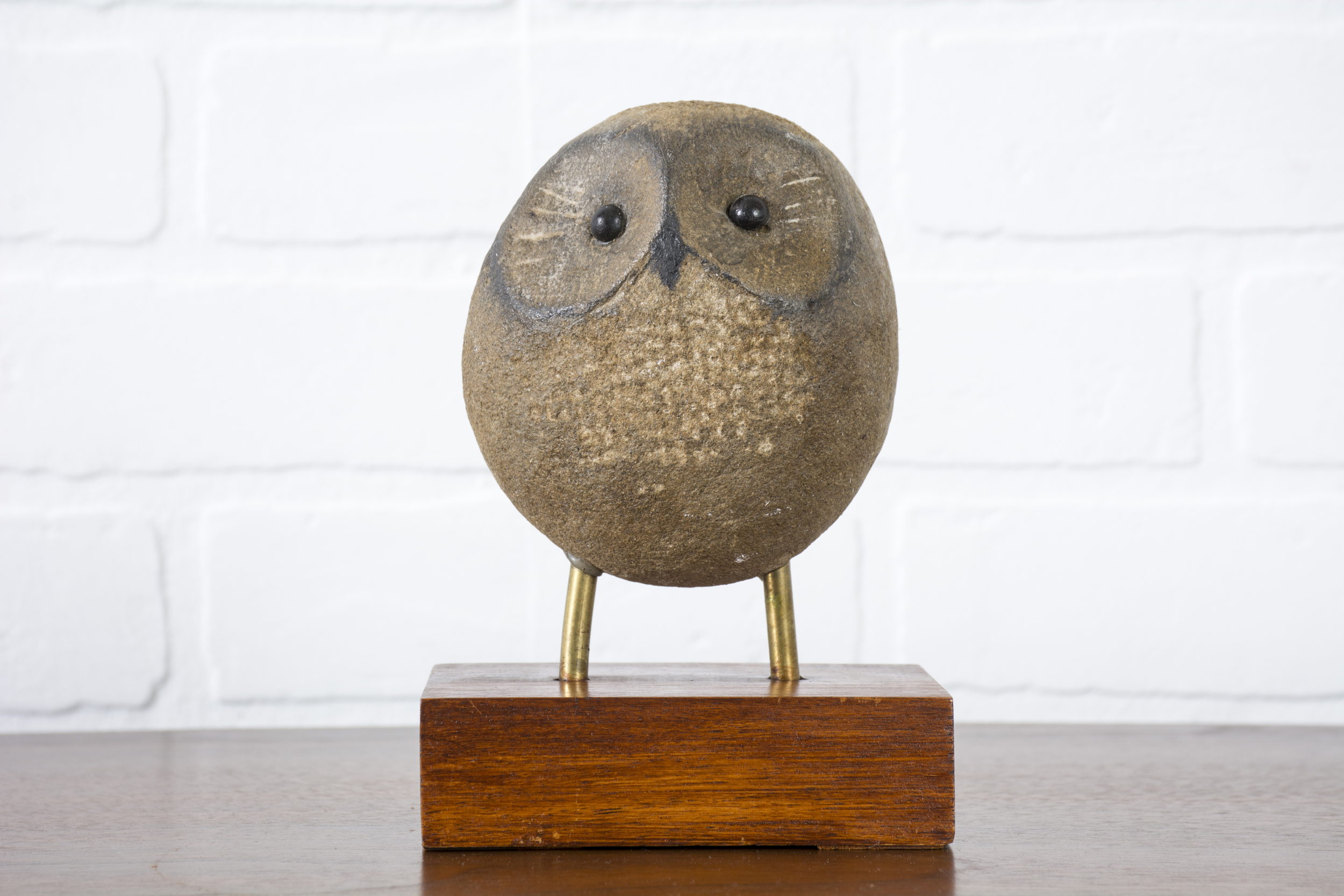 Vintage Young Owl Sculpture