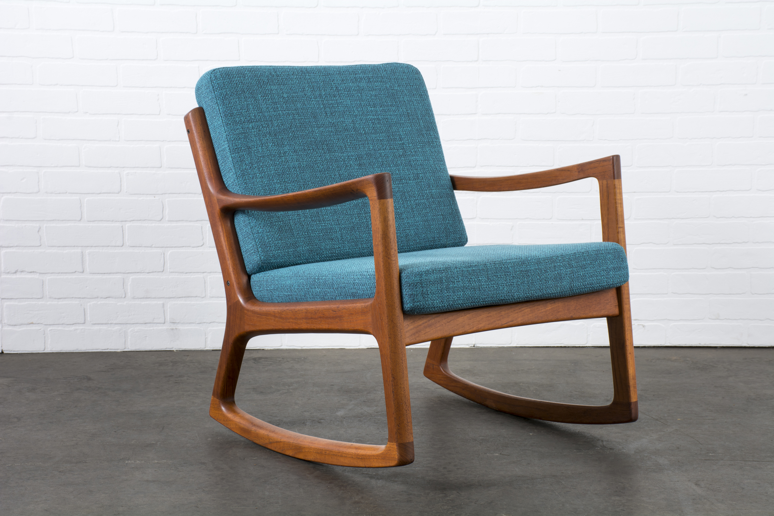 Danish Modern Teak Rocker by Ole Wanscher