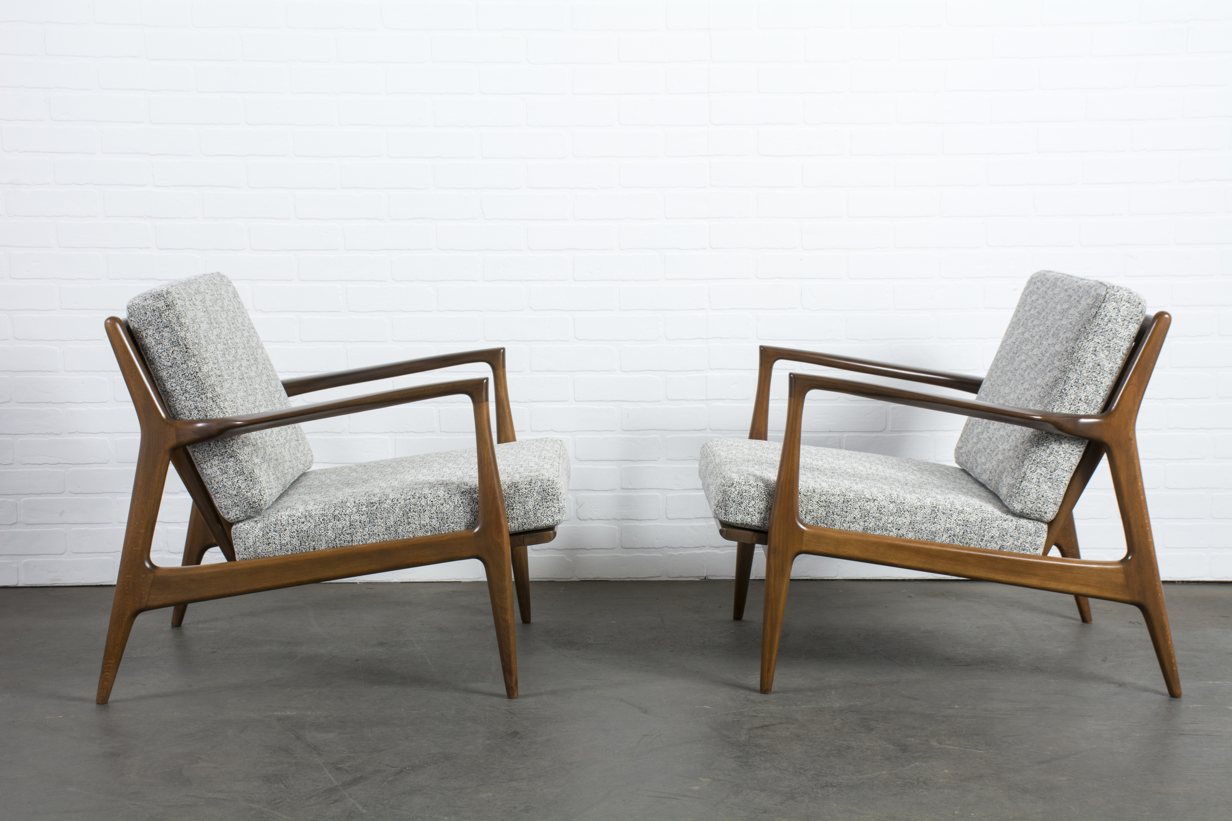 Pair of Danish Modern Lounge Chairs by Ib Kofod-Larsen