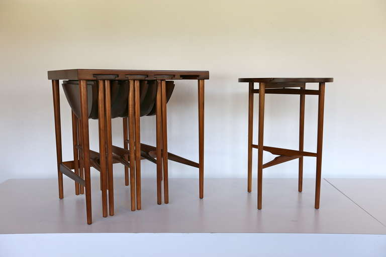 Bertha Schaefer for Singer & Sons nesting Tables. Photo: Archive/1stdibs