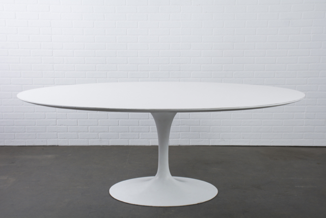 Vintage Oval Tulip Table by Eero Saarinen for Knoll