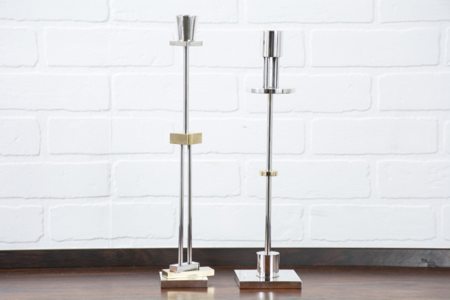 Pair of Vintage Candlesticks by Ettore Sottsass for Swid Powell