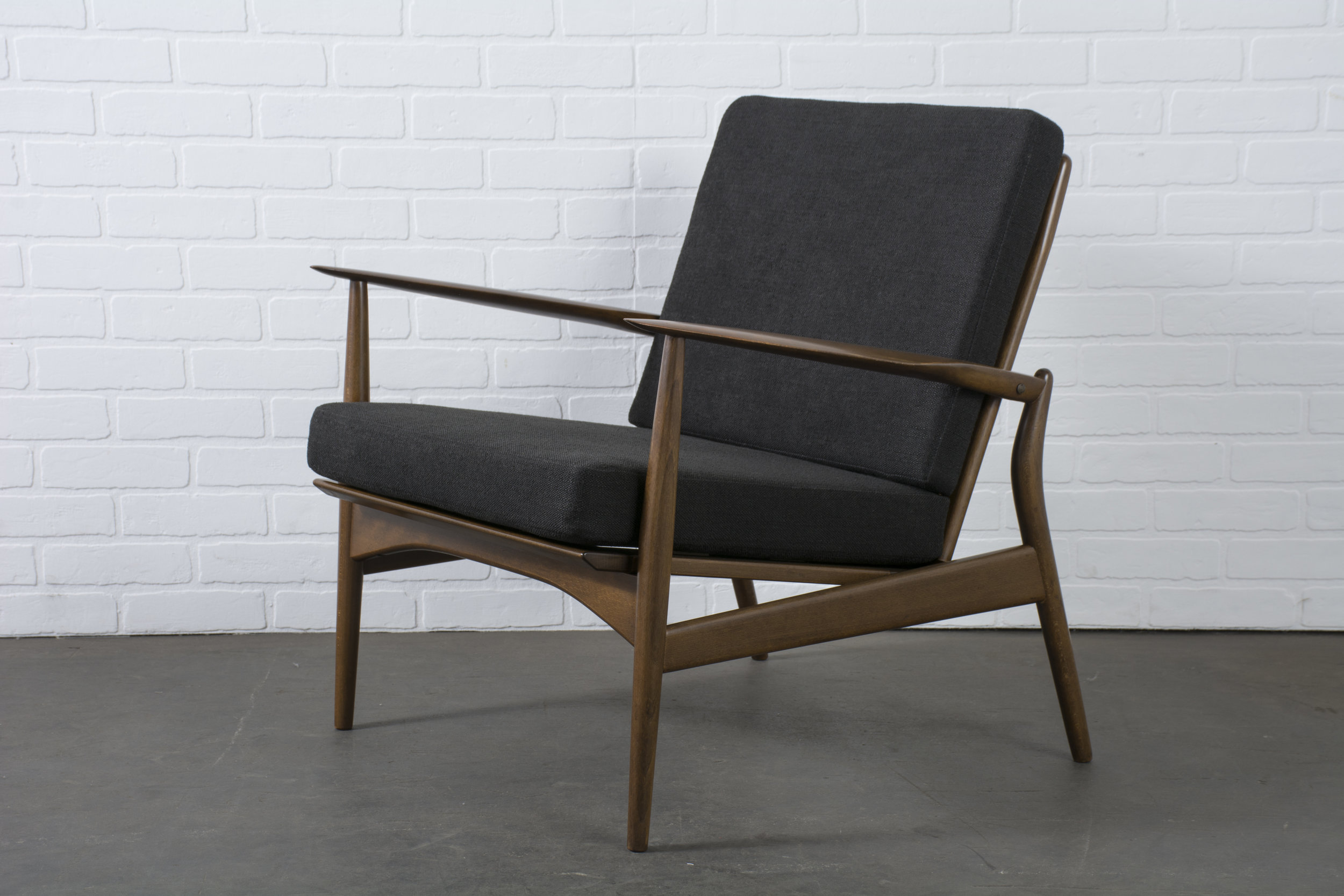 Danish Modern 'Spear' Lounge Chair by Ib Kofod-Larsen
