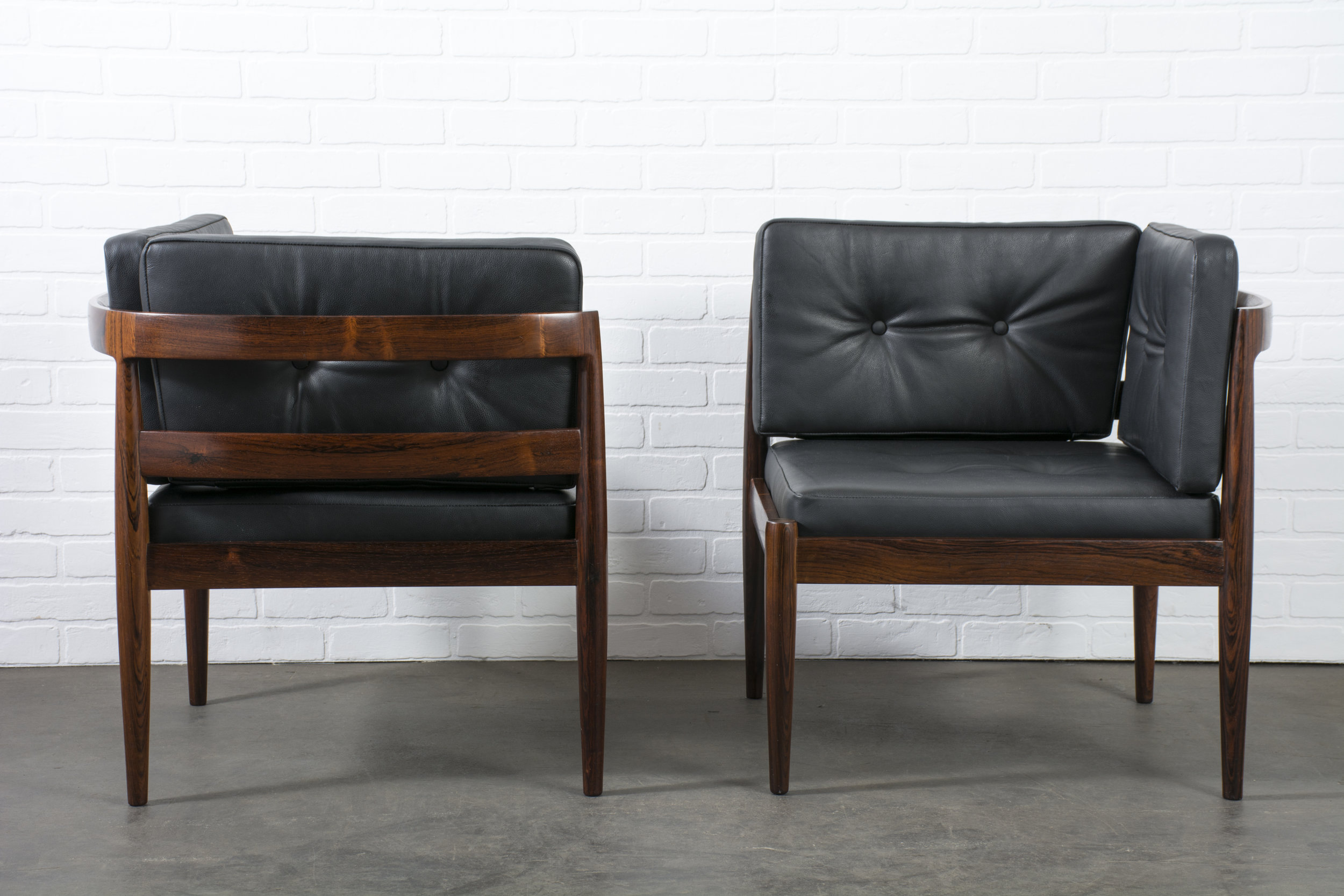 Kai Kristiansen Chairs in Rosewood and Leather