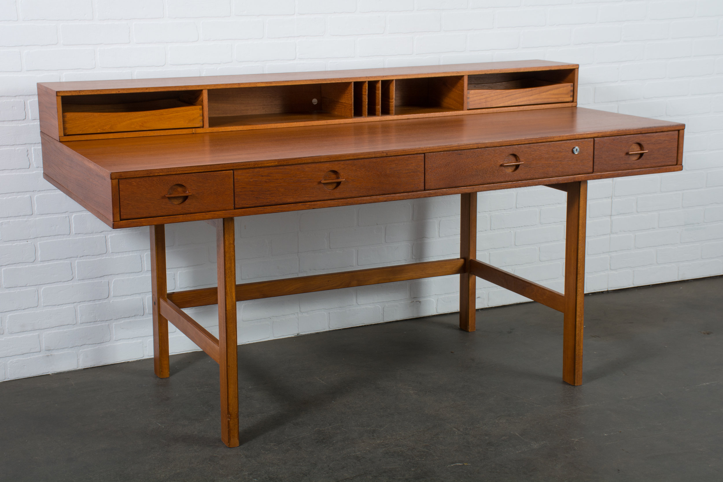 Danish Modern Teak Partners Desk by Peter Lovig Nielsen