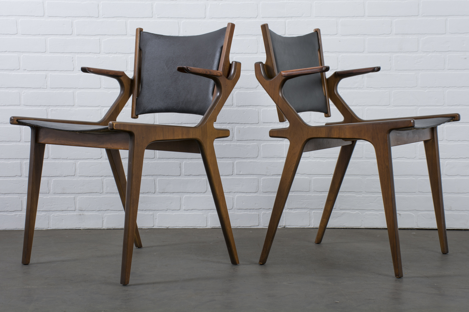 Pair of Vintage Mid-Century Chairs by Richard Thompson for Glenn of California