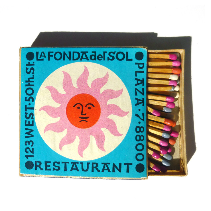 La Fonda del Sol Matchbook | Photo: Fab.com