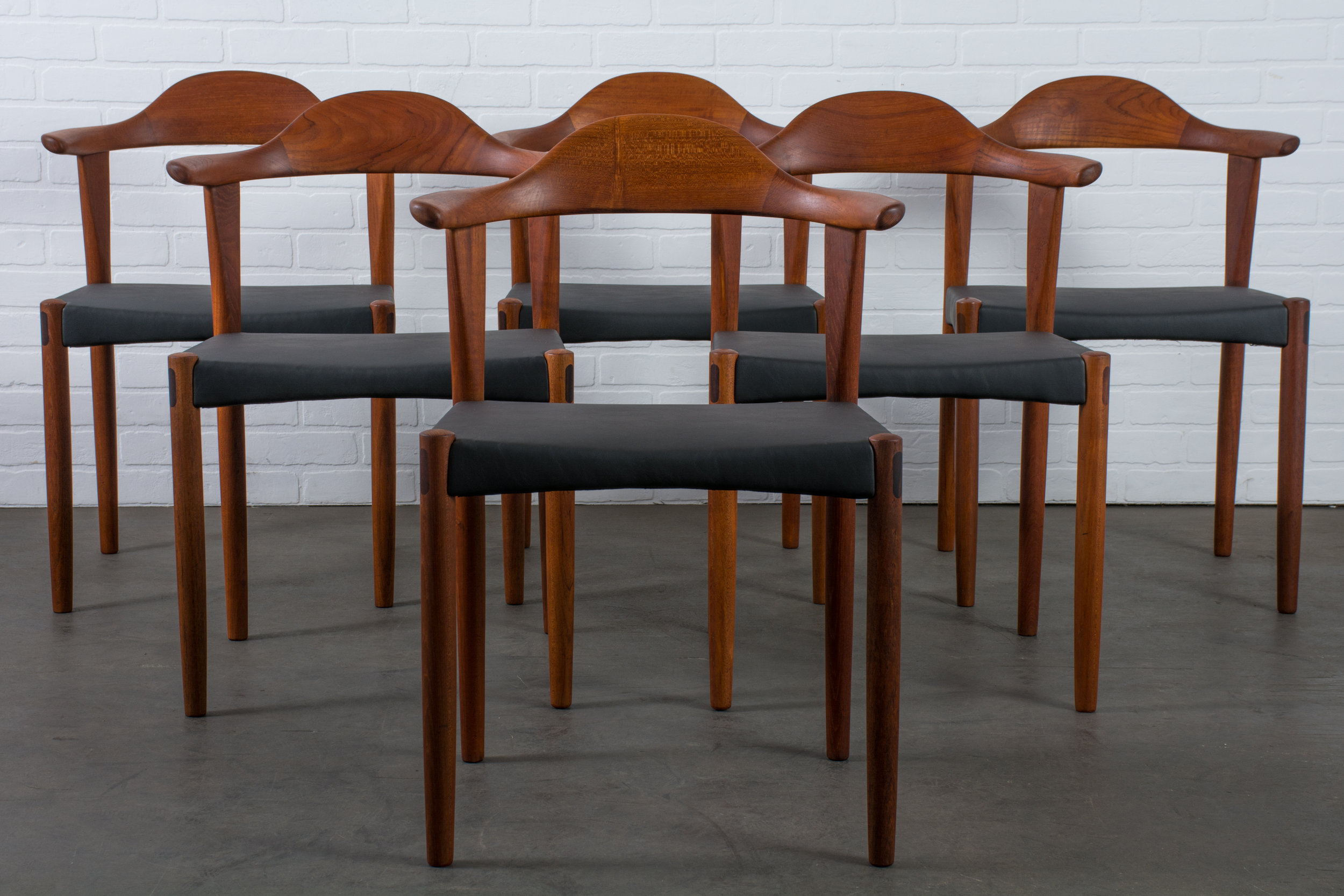 Six Teak Dining Chairs by Harry Ostergaard