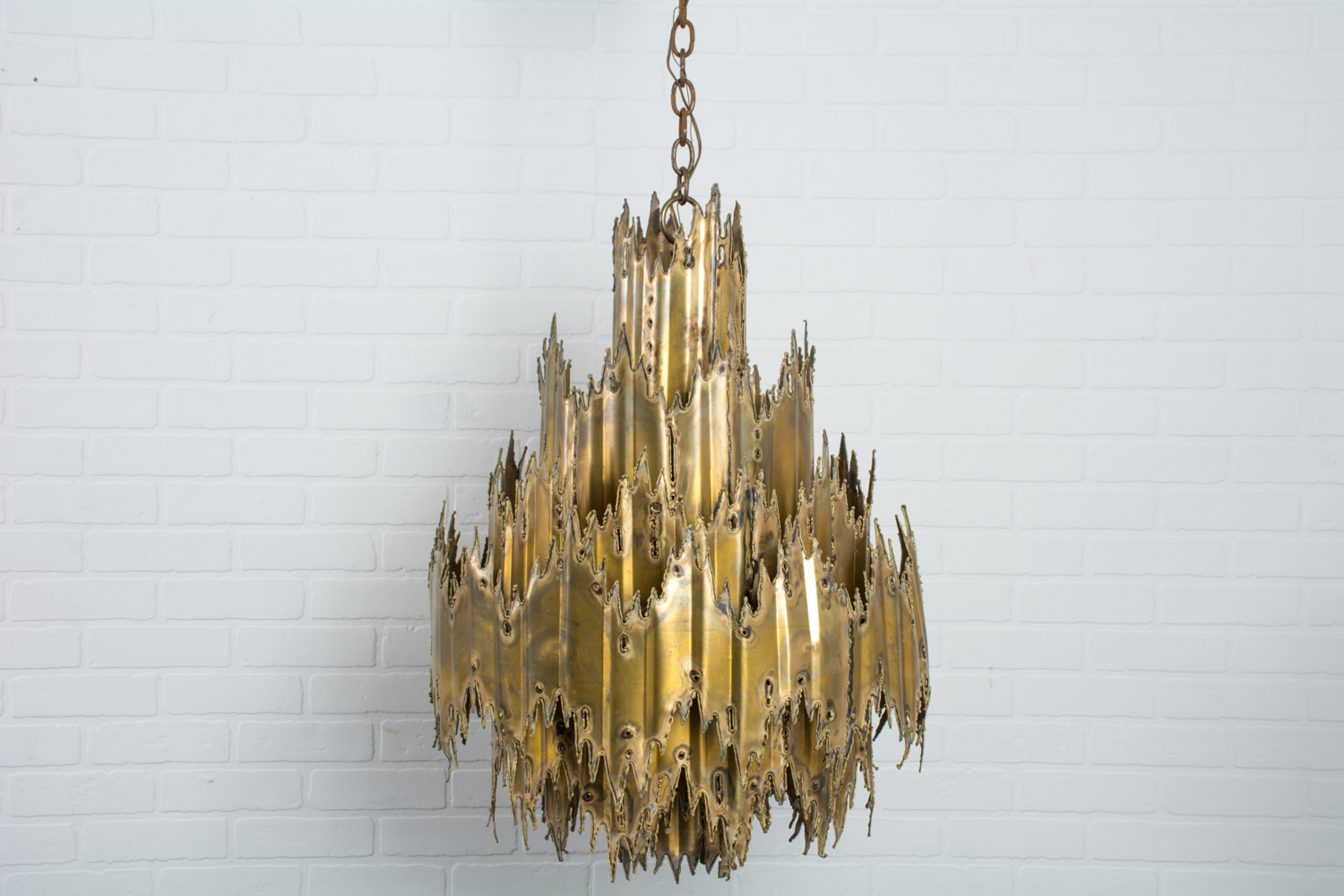 Tom Greene Brutalist Chandelier 1960s Mid Century Modern Finds
