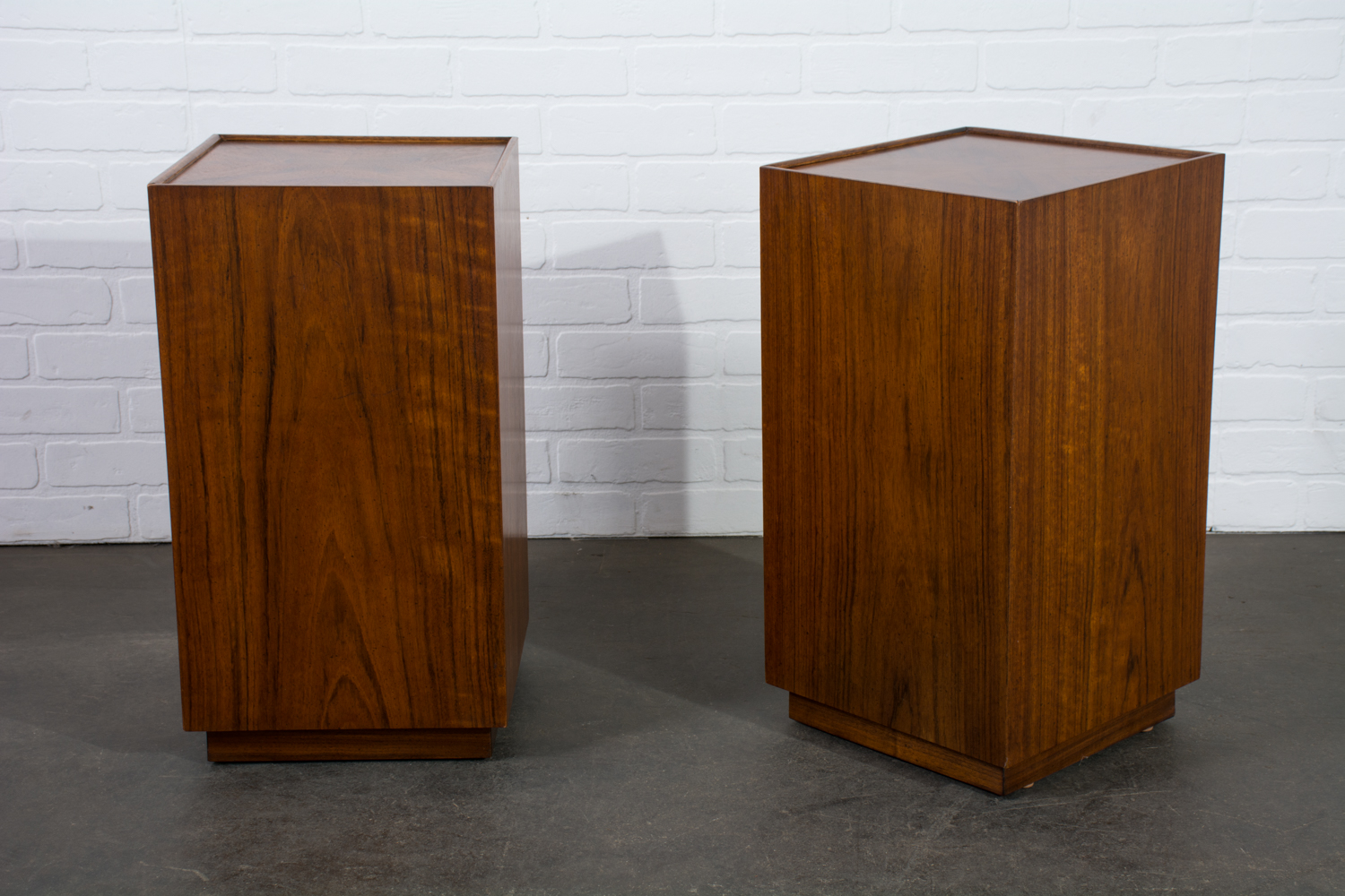 Pair of Vintage Mid-Century Walnut Side Tables
