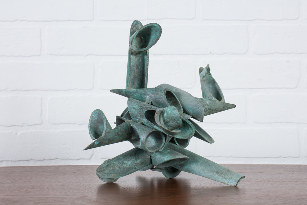 Vintage Bronze Abstract Sculpture