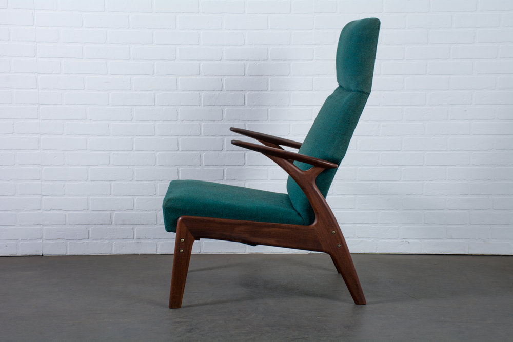 Copy of Christian Sorensen Teak Recliner, Denmark, 1960s