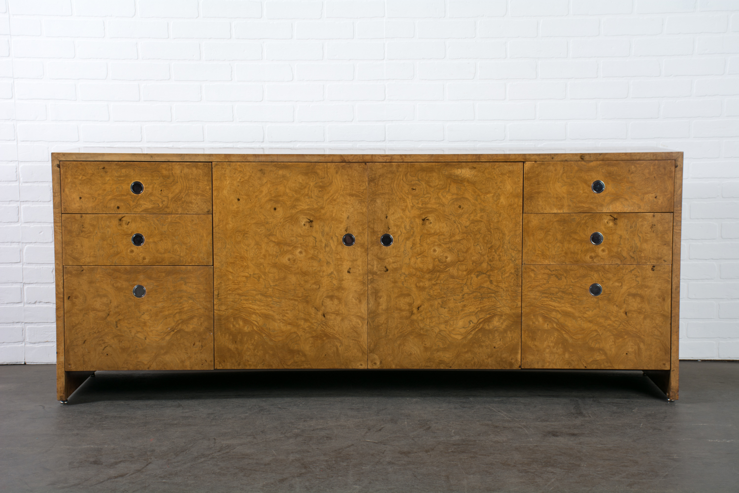 Ward Bennett Burl Wood Credenza for Brickel Associates