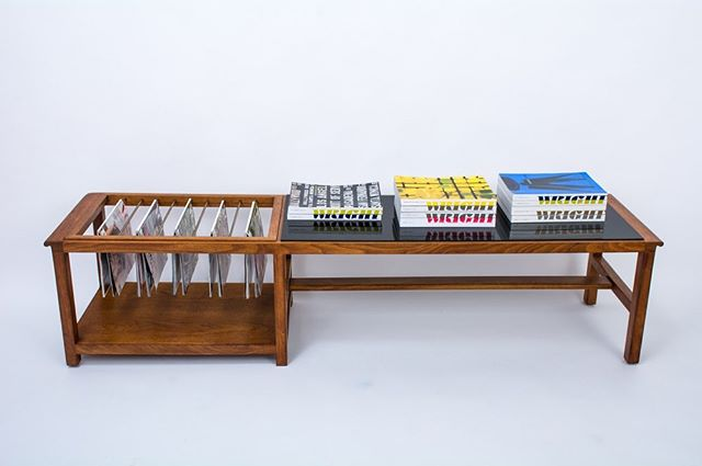 This vintage Mid-Century coffee table was designed by Edward Wormley for Dunbar, circa 1960s. Walnut with brass rods for magazines and a black acrylic top. Perfect for the magazine lover. Now available at MidCenturyModernFinds.com. . . . . #midcenturymoderntable #mcmcoffeetable #dunbar #edwardwormley #dunbartable #walnutcoffeetable #brassmagazineholder