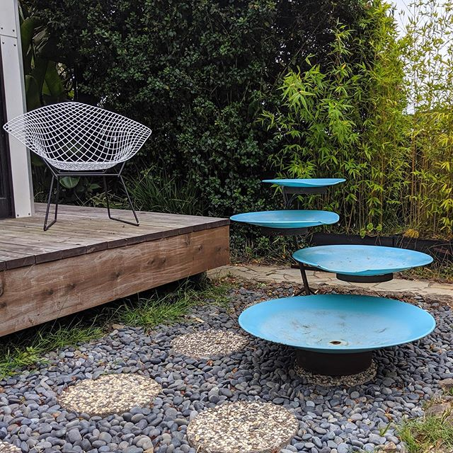 Create a backyard oasis with this Mid-Century Modern fountain🌴💦 Now available at: MidCenturyModernFinds.com . . . #backyardretreat #mcmbackyard #midcenturymodern #outdoorliving #vintagefountain #turquoisefountain #tieredfountain #mcmdecor  #backyarddesign #backyardoasis #backyardliving #midcenturydesign #modernhome #midcenturyhome #midcenturybackyard