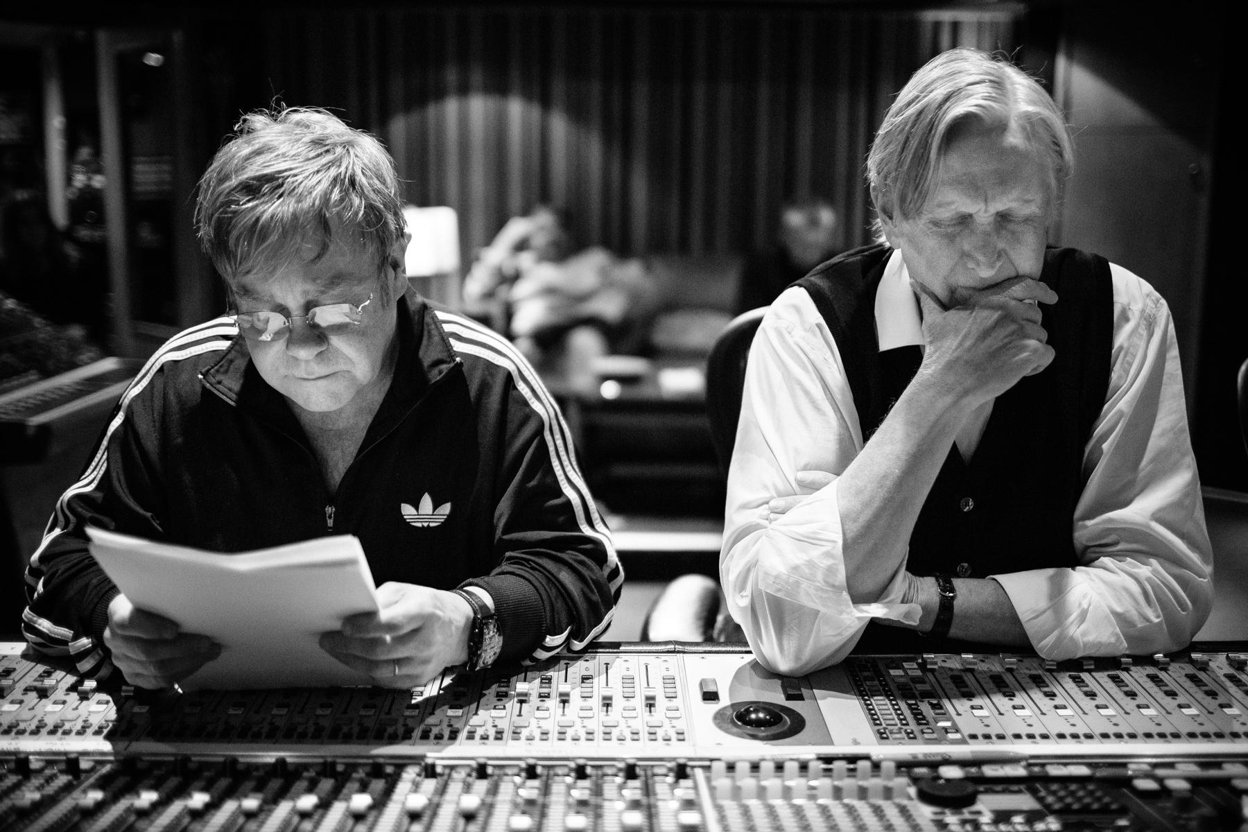 Elton John and T Bone Burnett
