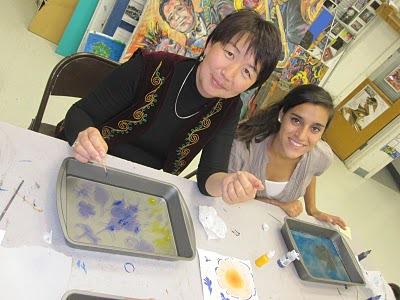 Ebru Painting with Nuri from Kyrgyzstan!