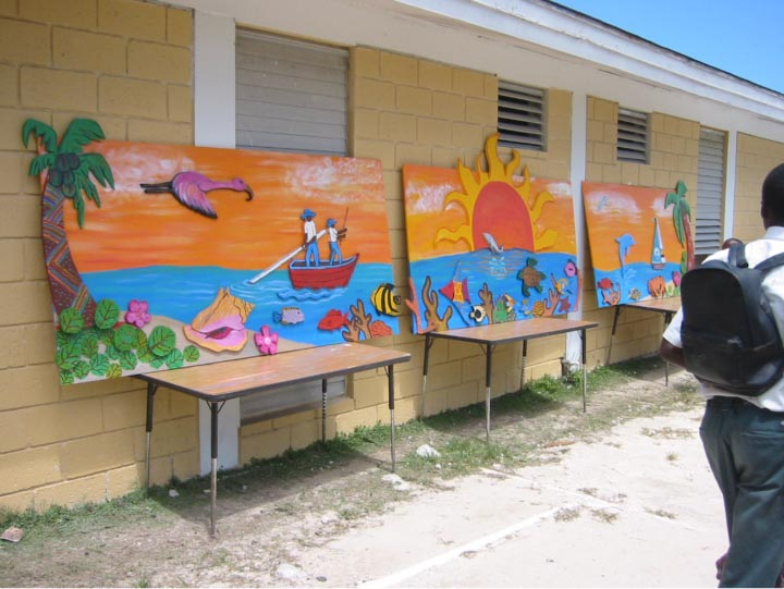 Mural project in Andros Island, the Bahamas