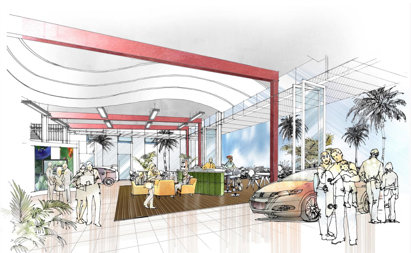 Green Dealership Interior Prototype