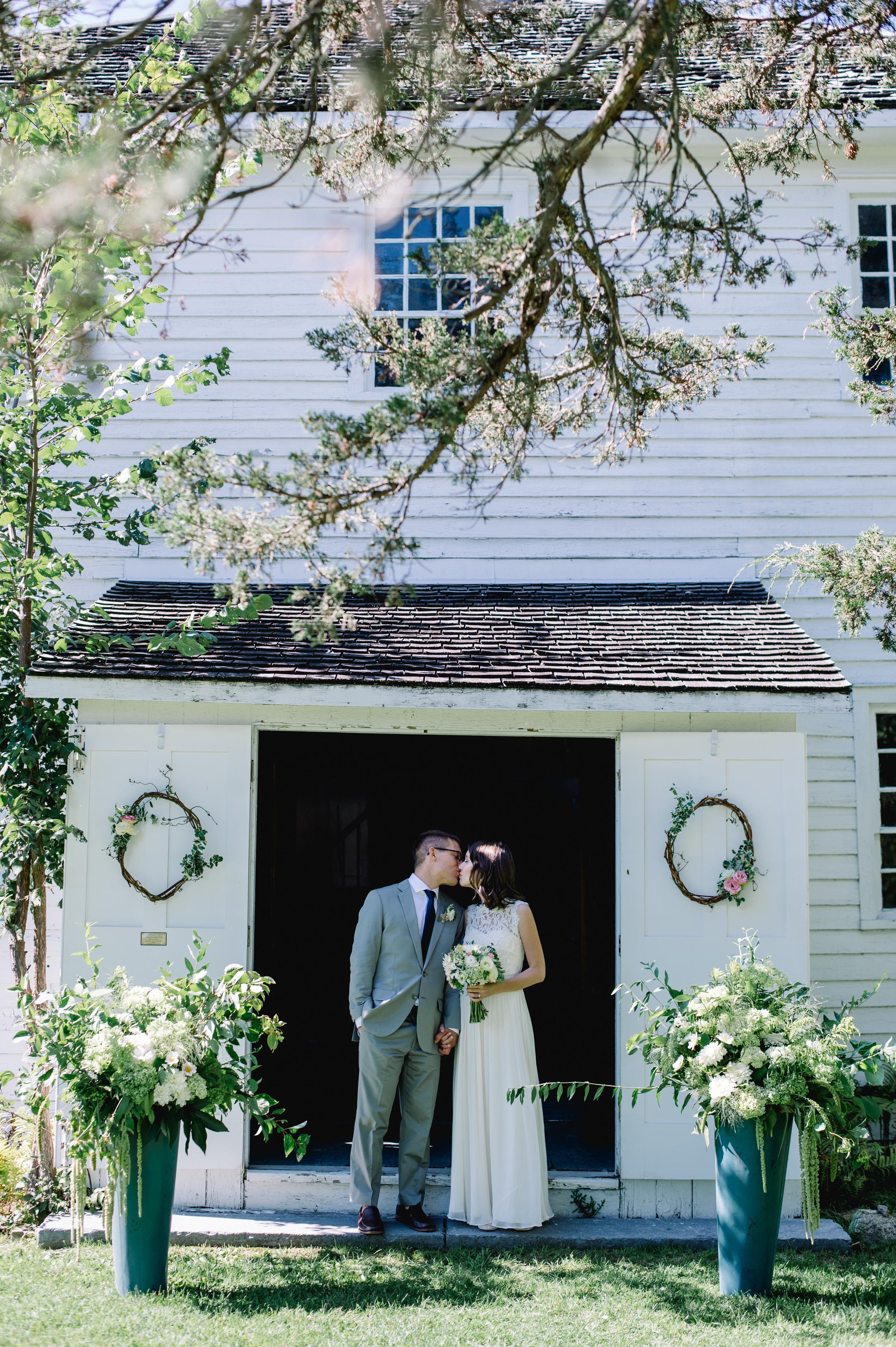 Sweet White Chapel County Wedding
