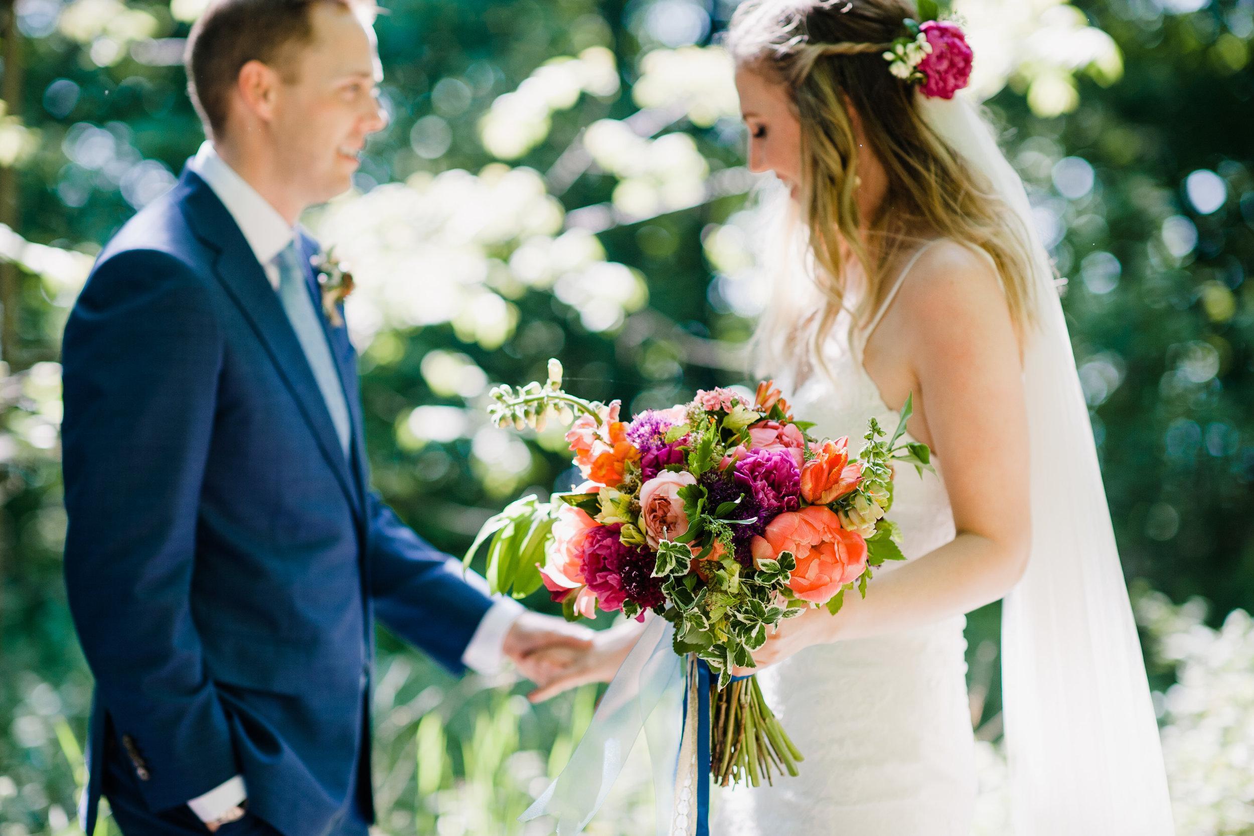 Colourful June Bridal Bouquet