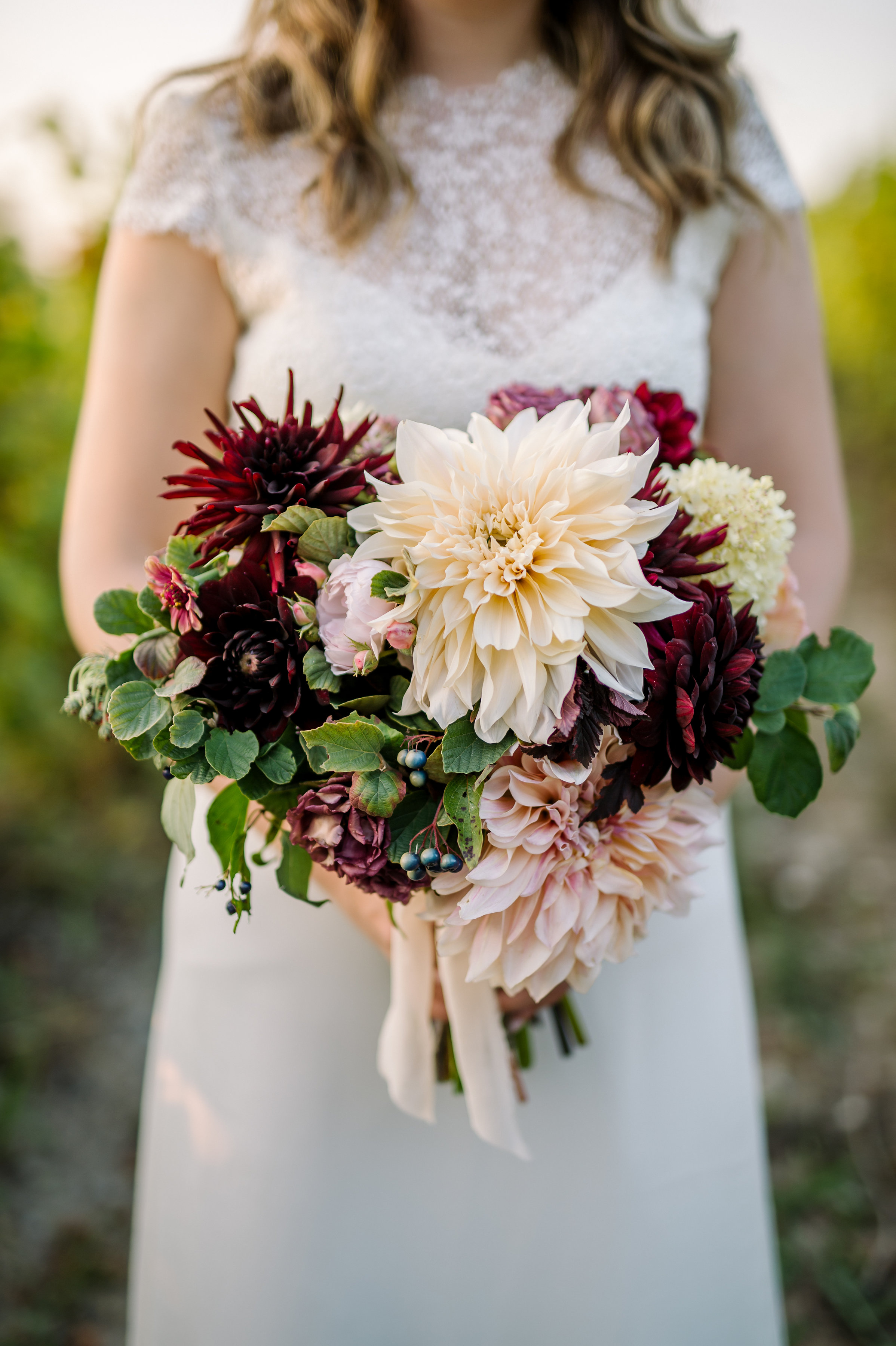 Dahlia madness Bridal Bouquet in September