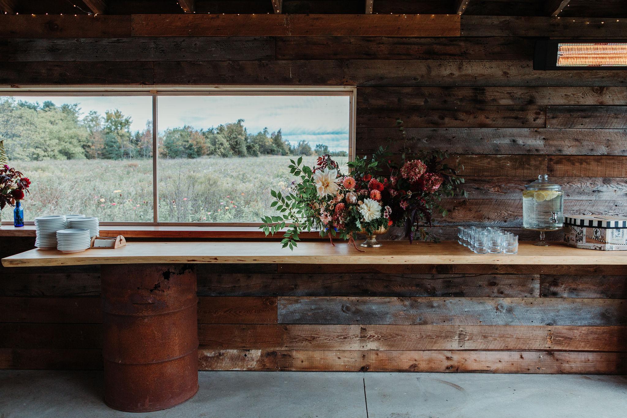 Autumn focal arrangement at 100 Acre Wood