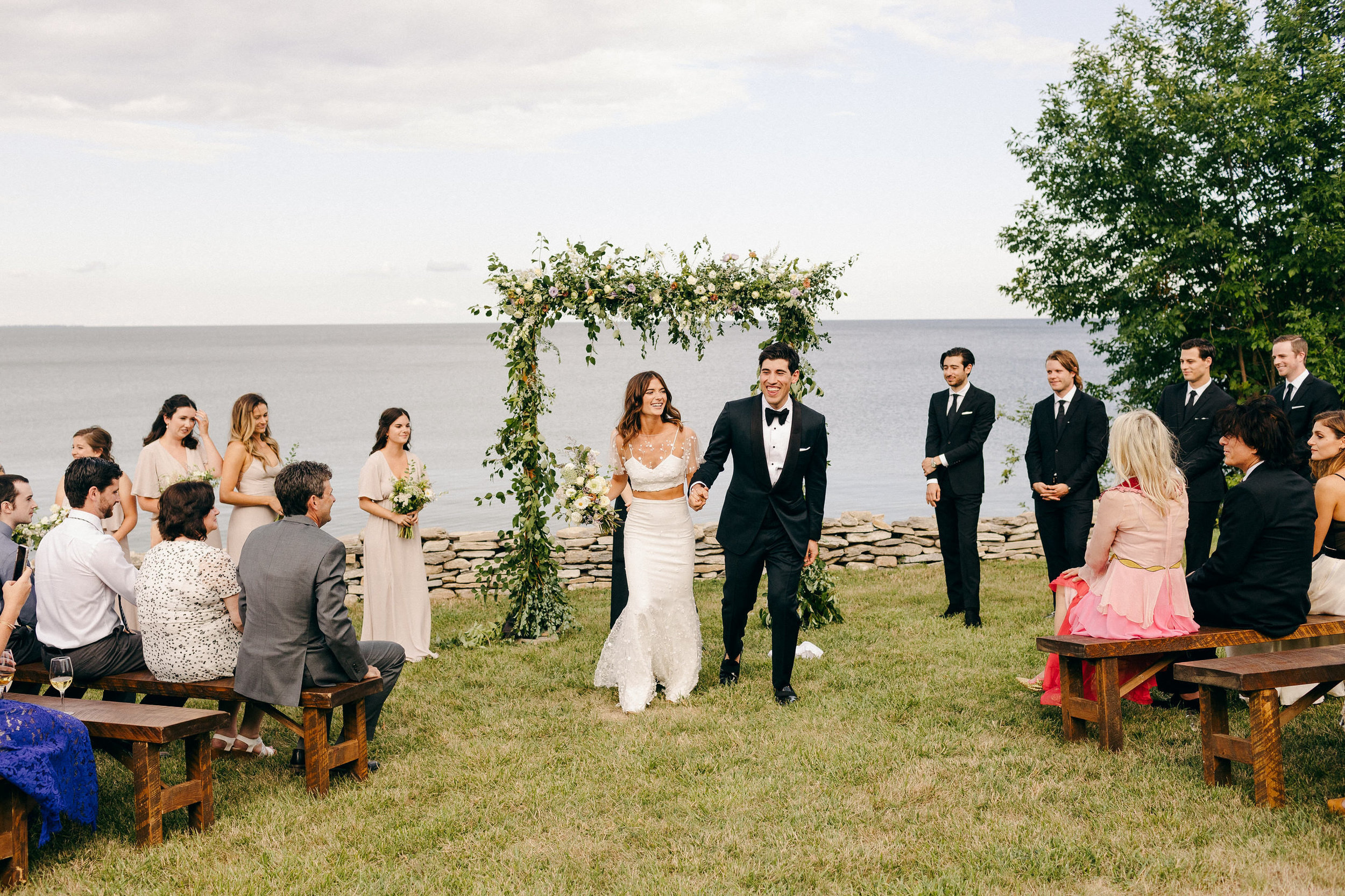 Waterfront wedding ceremony at Cressy House