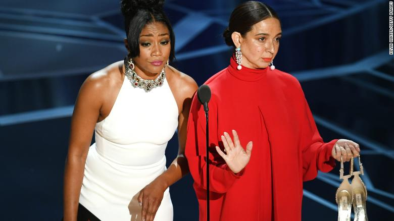 Tiffany Haddish and Maya Rudolph are here to tell you: Oscars may not be #SoWhite, but they're still pretty goshdarn white. (Image via Getty)