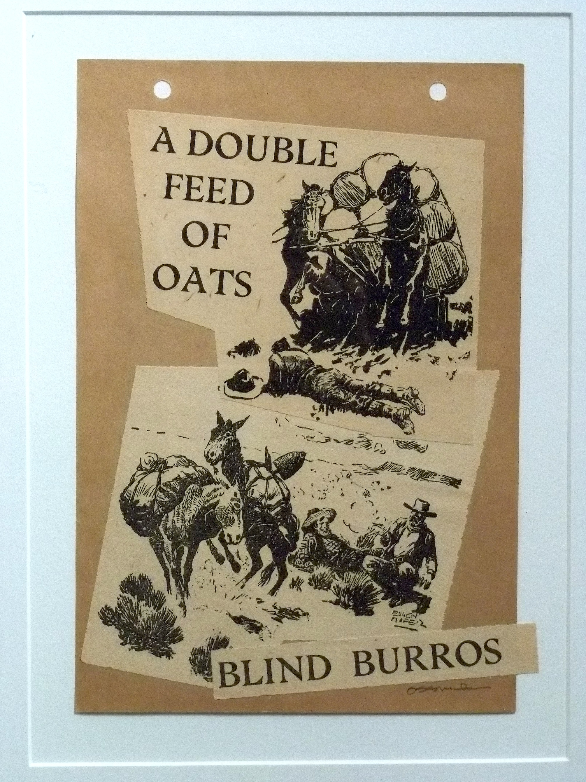 """A Double Feed of Oats   collage   10 x 8""""  framed   $300"""