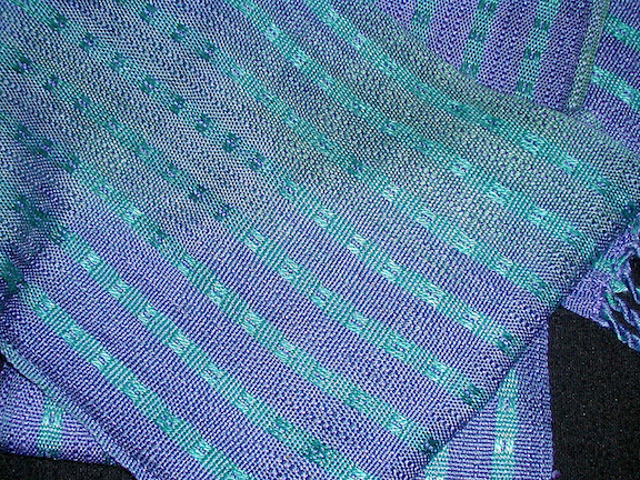 Purple & Turquoise Scarf - detail