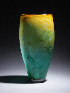 Yellow and Green Vase
