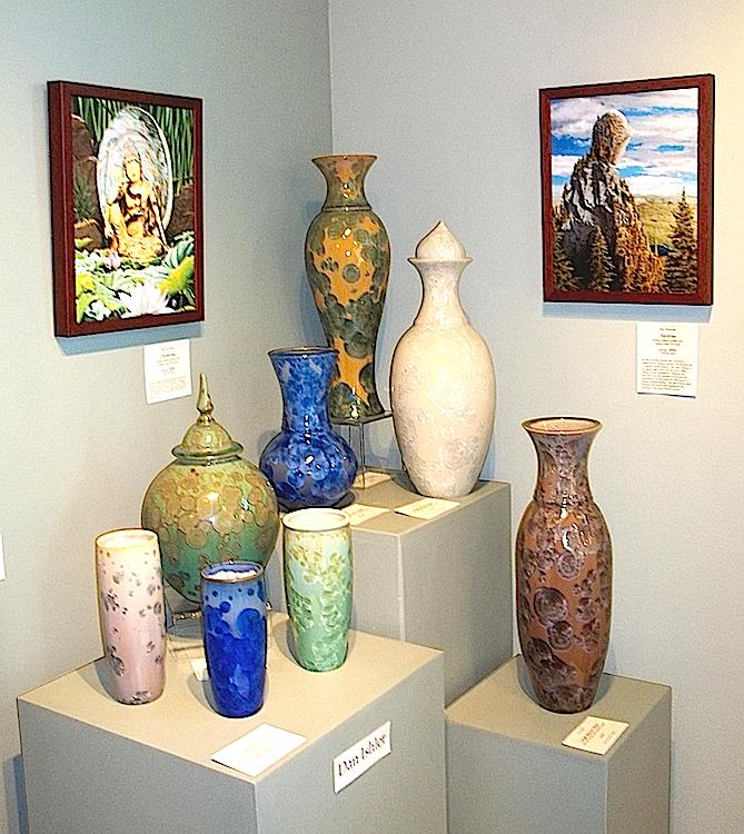 Crystalline Glazed Vases