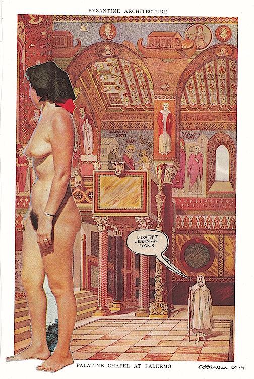 "Lesbian? (Lust)   collage     6.75  x  10"""