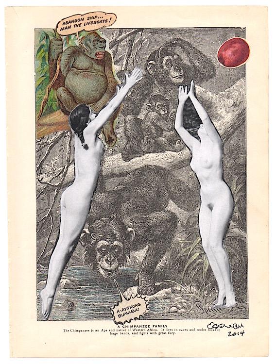 """Abandon Ship (Desire)   collage     6.75  x  10"""""""