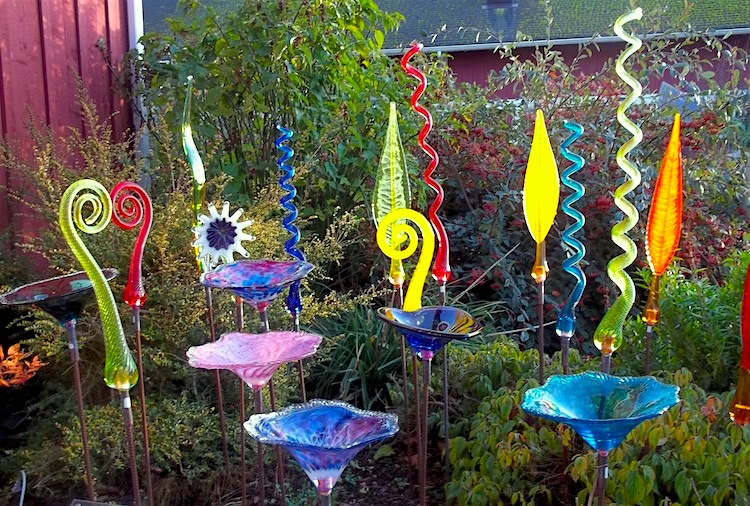 Click here to see a full selection of Robert Adamson's garden glass.