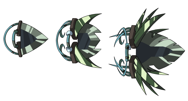 A series of knife designs for  AdventureQuest